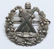 Military Cameron Highlanders Cap Badge