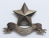 The Cameronians Pipers Cap Badge