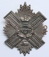 92nd Gordon Highlanders Large Brass Victorian Cross Belt Regimental Cap Badge