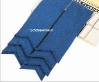 Plain Colour Wool Ancient Blue Flashes