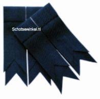 Navy Blue Plain Coloured Garter, Flashes