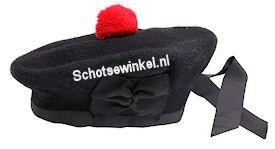 Budget Black Balmoran Hat, A011, maat 60
