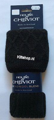 Kousen, Cheviat Zwart. maat 39-42 (S)