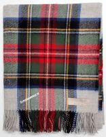 Blanket,  100% lamswol, Steward Silver Dress Tartan, 170 x 140