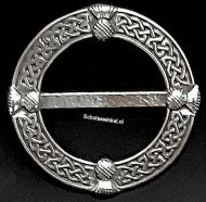 Scarf Ring, (M) Celtic Thistle, 6 cm