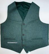 Waistcoat Highland Green Tweed, maat 48L