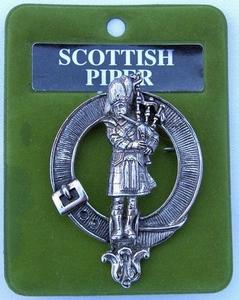 Scottish Piper Cap Badge
