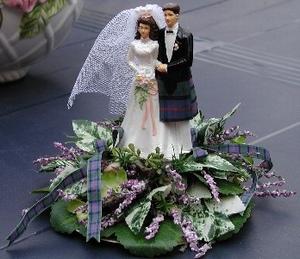 Taart decoratie, paars