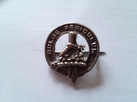 Sterling Silver Ferguson clan badge , 1957 Edinburgh