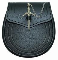 Sporting SPT5 Daywear sporran for Highland Kilt zwart